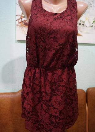 Кружевное платье на девочку 14-15 лет,рос 164-170 см,бренд new...