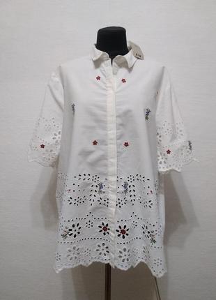 Стильная элегантная летняя блуза большого размера