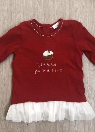 Платье красное хлопковое на 3-6 месяцев вес 8 кг