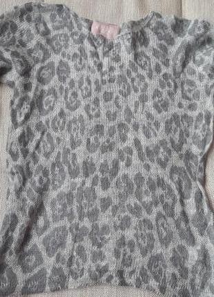 Мохеровый свитер в актуальный принт axeome
