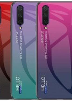 TPU+Glass чехол Gradient HELLO