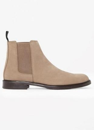 Cos мужские замшевые кожаные ботинки челси
