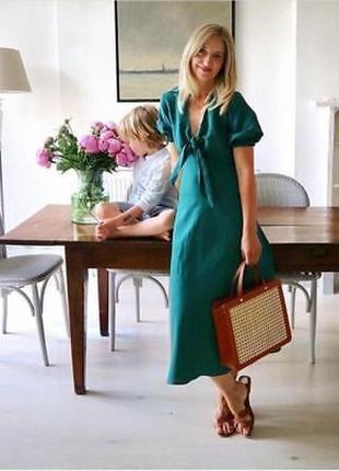Очень стильное льняное платье большого размера