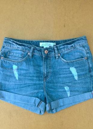Джинсовые шорты с потёртостями шортики h&m