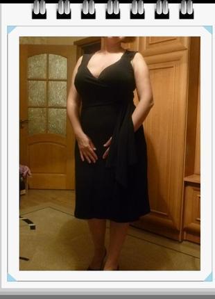 Идеальное маленькое черное платье элегантное большой размер кл...