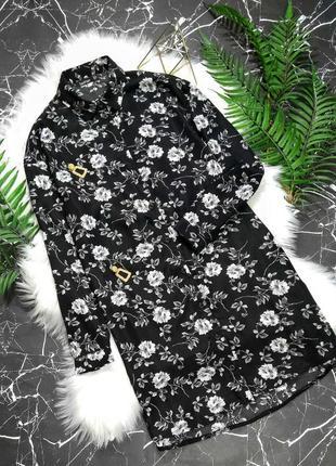 Платье-рубашка в цветочный принт от boohoo