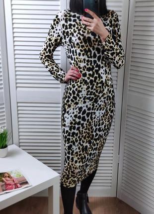 Платье-миди хищный принт by very, p-p uk 10/m