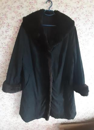 Пальто утепленное большой размер