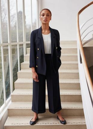 Дизайнерские брюки штаны плаццо с высокой талией alexa chung