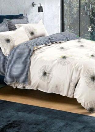 Хлопковое постельное белье одуванчики на бежевом все размеры