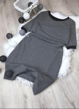 Платье с принтом в гусиную лапку