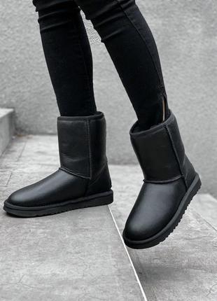 Высокие женские зимние чёрные угги, ugg black