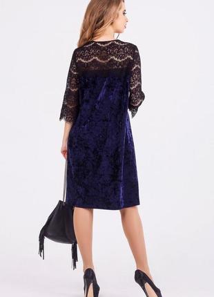 Красивое  широкое бархатное платье с кружевом, leo pride