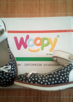 Кожаные ортопедические туфли Woopy Ortopedic р. 32 ст 21см