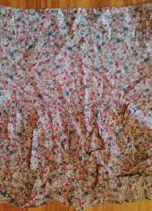 💞короткая юбка на кокетке с воланом 12 camaieu.распродажа.