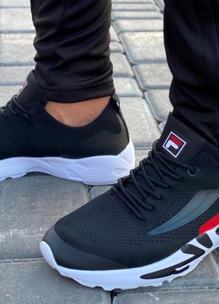 Мужские хитовые кроссовки с логотипом фила на шнуровке. качество!