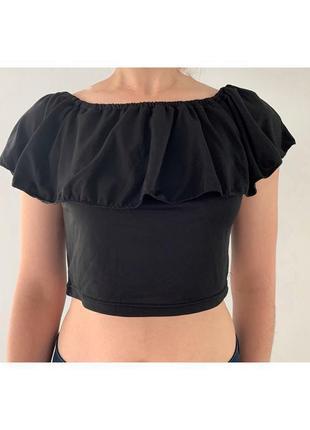 Топ, футболка, майка, черная футболка.