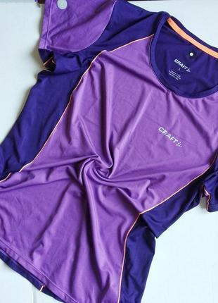 Футболка craft спортивная яркая, комбинированный цвет, одежда ...