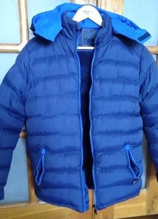 Зимняя куртка мужская на утеплителе, пуховик
