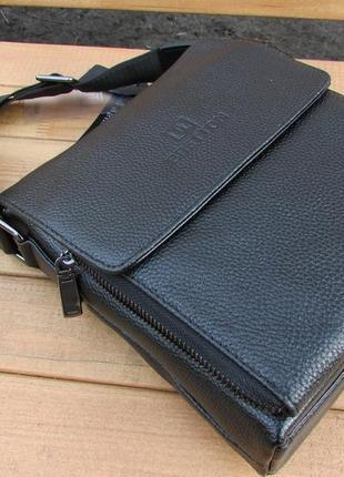 Мужская кожаная сумка-планшет от тм bretton.