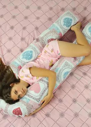 Подушка для беременных, подушка обнимашка Подкова Хрустальное сер