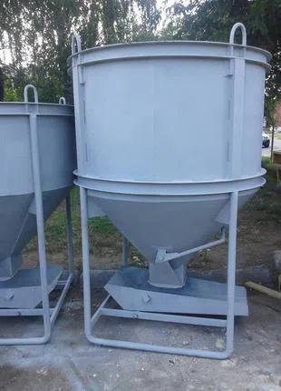 Бункер, бадья для бетона. Бункер конусный БН-1 куб