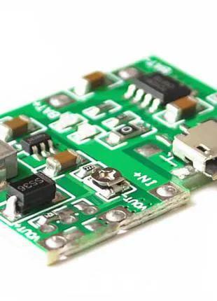 Модуль зарядки литий батарей + повышающий модуль