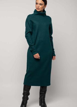 New платье зимнее зеленого цвета