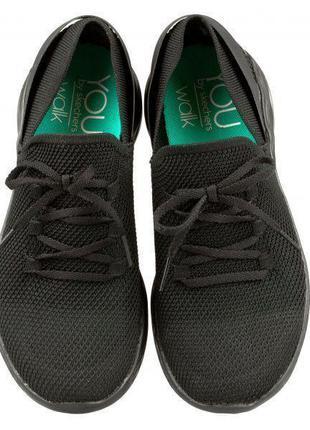 Skechers женские черные кроссовки, р.37,38,39,40