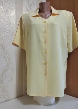 Рубашка удобная, блуза с коротким рукавом, большой размер.