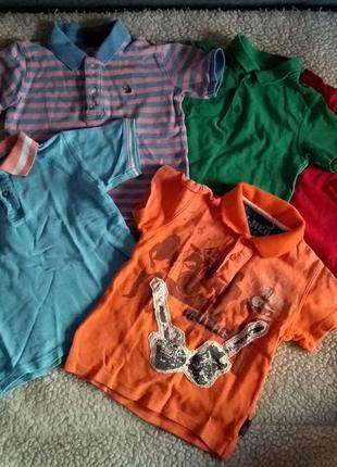 Набор пяти футболок поло 4-5-6 лет