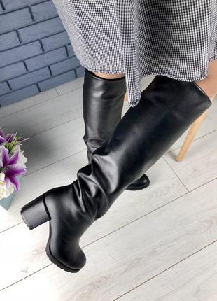 Lux обувь!🔥распродажа! женские высокие зимние кожаные сапоги