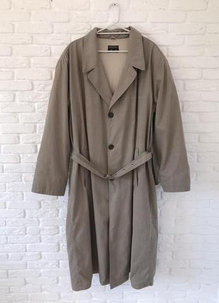Мужской тренч плащ пальто с утеплителем giorgio armani italy