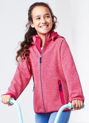 Розовая куртка ветровка с капюшоном от happy kids, tcm tchibo,...