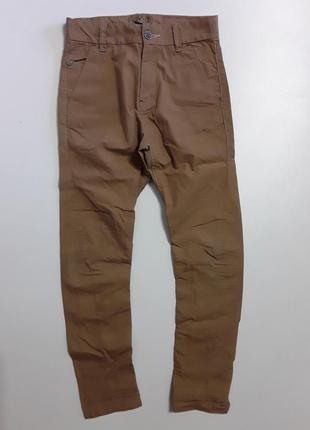 Фирменные легкие хлопковые брюки штаны 8-9 лет