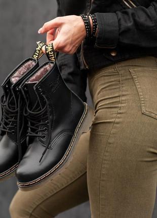 Распродажа 🔥dr.martens кожаные зимние мужские ботинки на меху