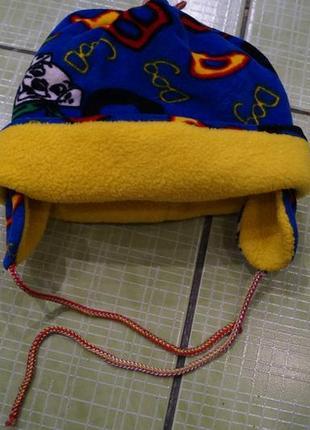 Теплая зимняя шапка на 1-3 годика