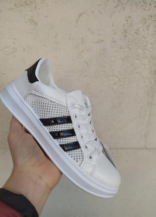 Sale белые кроссовки кеды слипоны сетка