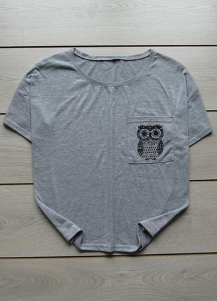 Укороченная футболка с принтом от chicoree
