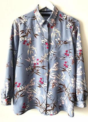 Шикарная рубашка в цветочный принт большой размер marks & spencer