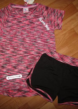 Акция! комплект костюм набор с шортами, девочка, 14-16, польша