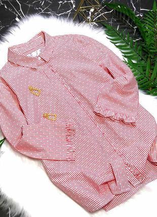 Рубашка в полоску с рюшами falmer heritage