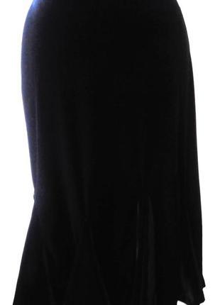 Велюровая юбка годе jm collection