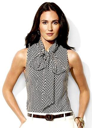 Блуза шелковая ralph lauren
