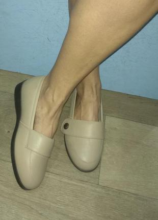 Кожаные туфли cosyfeet р 39 на очень широкую ногу