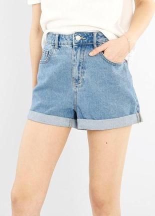 ❤️завышеные джинсовые шорты мом