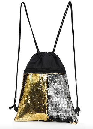Спортивный рюкзак на шнурках с пайетками, сумка для обуви
