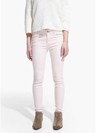 Классные розовые штанишки/джинсы mango размер м