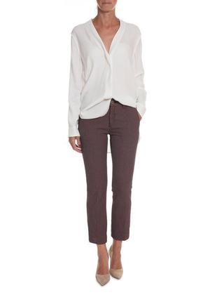 Женские красные брюки капри с мини-узорчатым жаккардом mos mos...