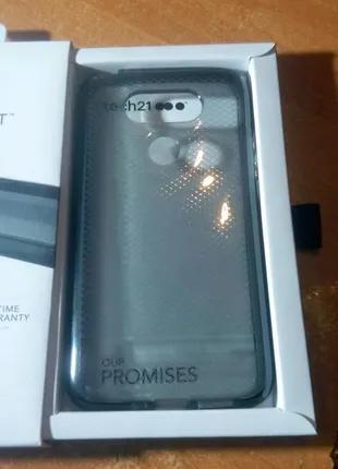 Чохол-бампер для Lg G5 чорний TECH21 EVO Check Protection Case LG